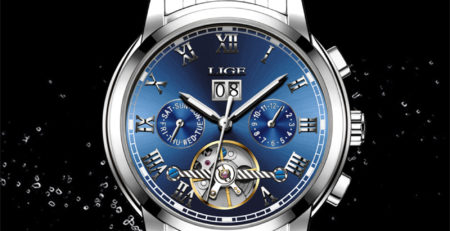 Голубые часы Алиэкспресс